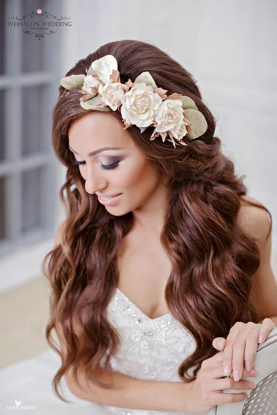 Long Wedding Hairstyles from Elstile  / www.himisspuff.co...