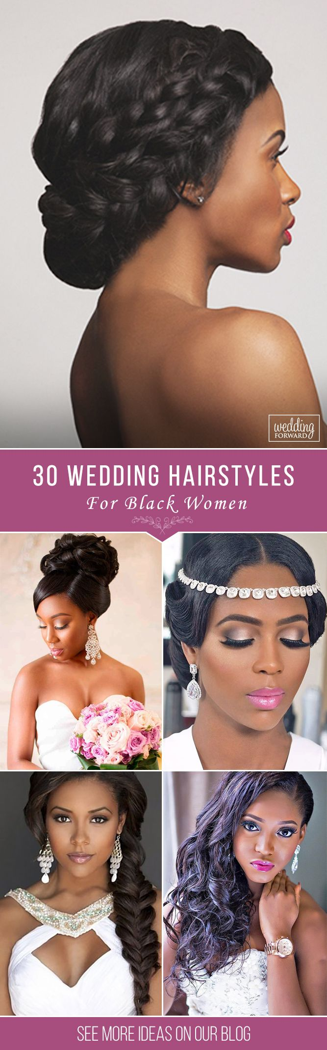 30 Black Women Wedding Hairstyles ❤ It is not a difficult task to pick the sui...