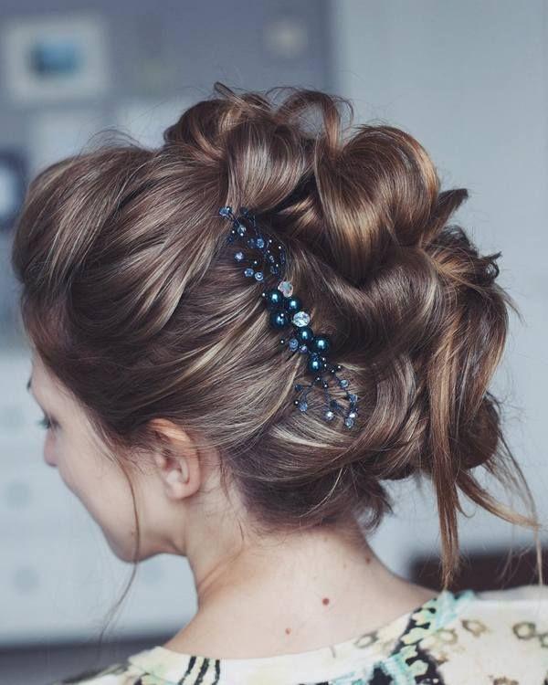 Tonya Pushkareva Long Wedding Hairstyle for Bridal via tonyastylist / www.himiss...