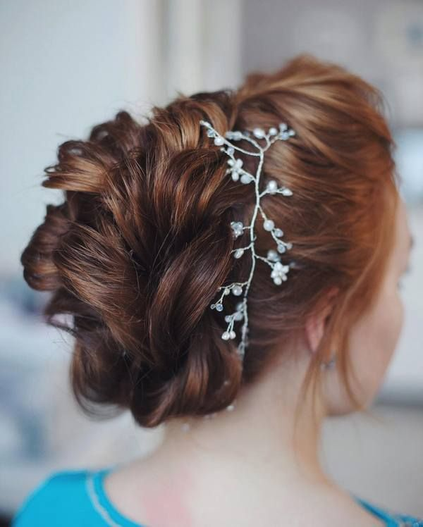 Tonya Pushkareva Long Wedding Hairstyle for Bridal via tonyastylist  / www.himis...