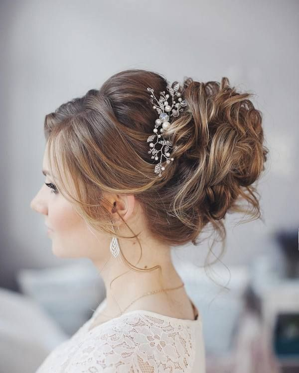 Tonya Pushkareva Long Wedding Hairstyle for Bridal via tonyastylist / www.himiss...