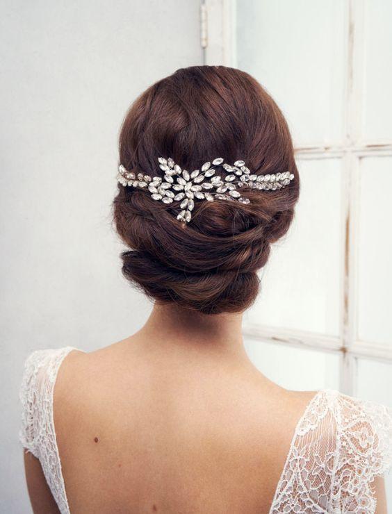 Featured Headpiece: Anna Campbell;www.annacampbell.com.au; Wedding hairstyle...