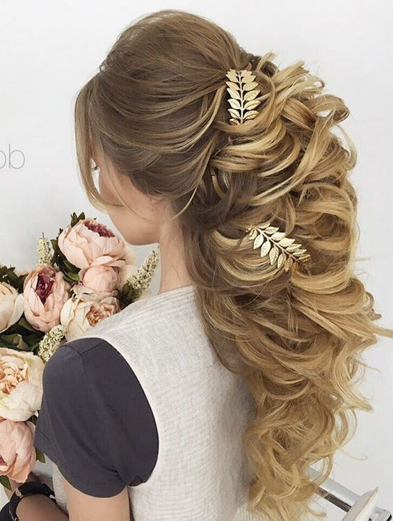 Long Wedding Hairstyles & Bridal Updos via Elstile / www.deerpearlflow...
