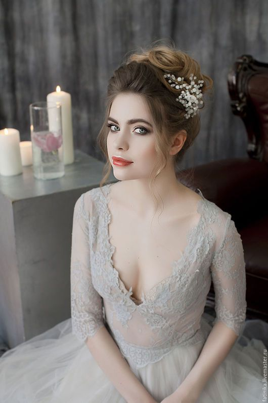 Long Wedding Hairstyles & Bridal Updos via Evgeniya Lebedeva  / www.himisspuff.c...