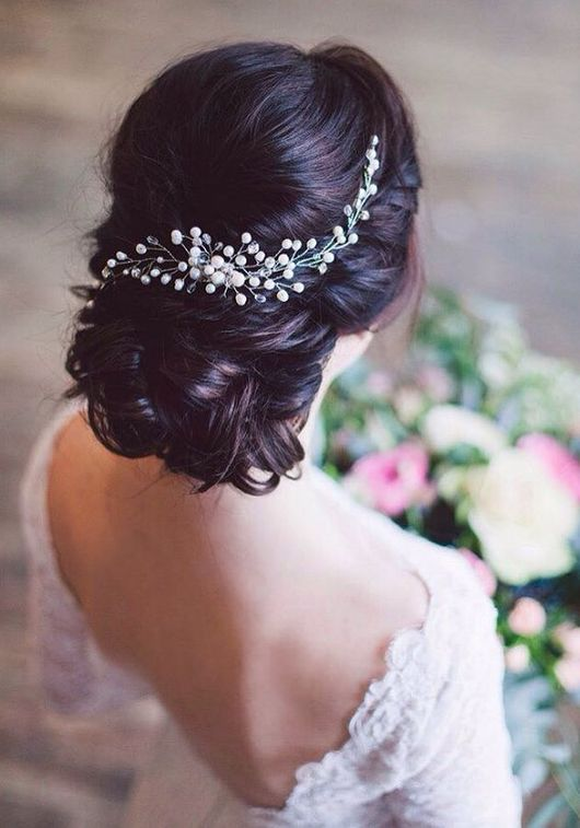 Long Wedding Hairstyles & Bridal Updos via Evgeniya Lebedeva / www.himisspuff.co...