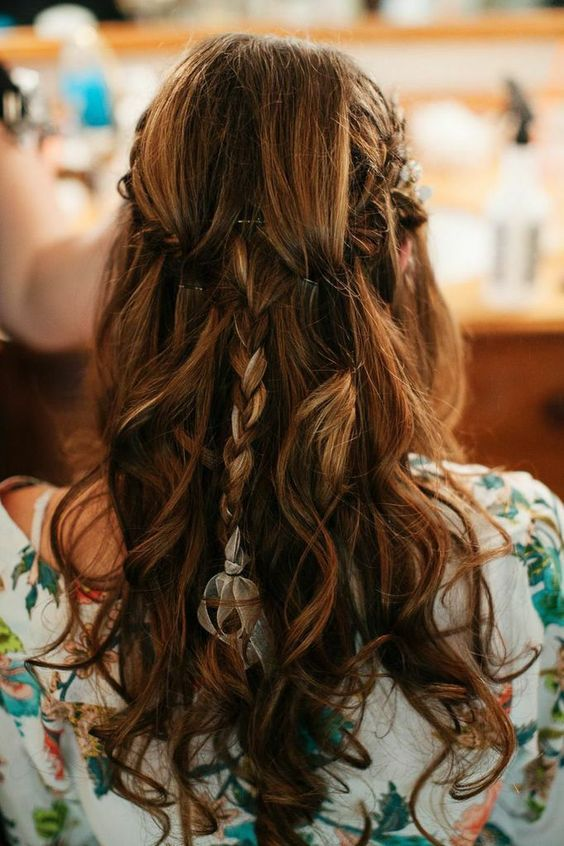 Featured Photographer: Fabrice Tranzer Photography; Wedding hairstyle idea.