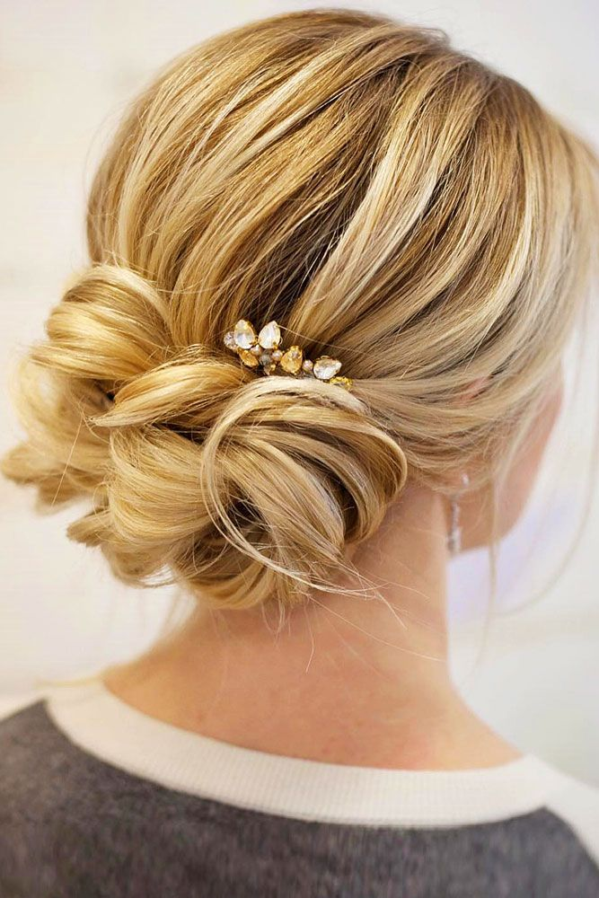 18 Gorgeous Wedding Bun Hairstyles ❤We created a list of wedding bun hairstyle...