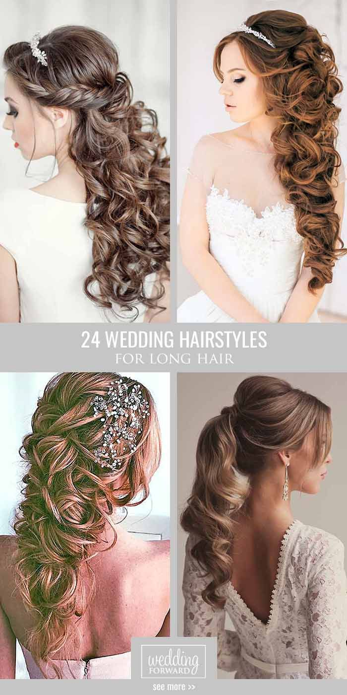24 Bride's Favourite Wedding Hairstyles For Long Hair ❤ From soft layers to ha...