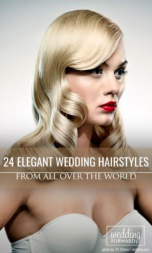 24 Elegant Wedding Hairstyles From All Over The World ❤Mason jars wedding cent...