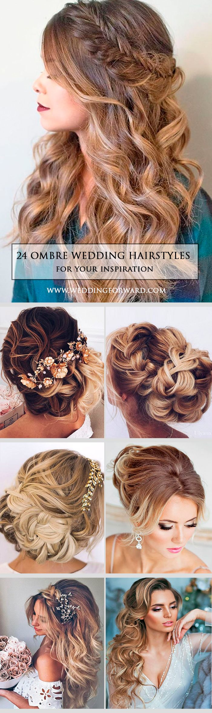 24 Modish Ombre Wedding Hairstyles ❤ Ombre wedding hairstyles are on trend thi...