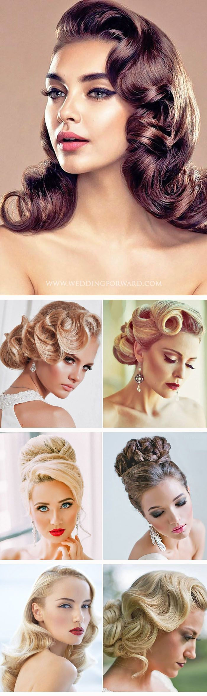 24 Utterly Gorgeous Vintage Wedding Hairstyles ❤ From 20s Gatsby style and sen...