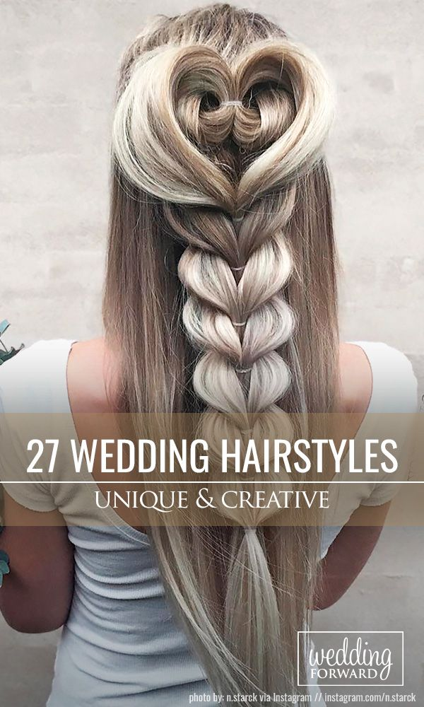 27 Creative & Unique Wedding Hairstyles ❤ From creative hairstyles with romant...