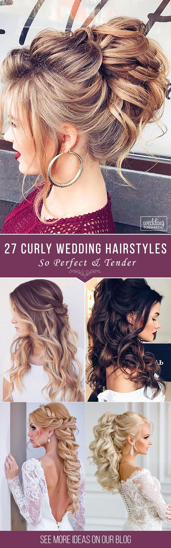 27 Oh So Perfect Curly Wedding Hairstyles ❤ Almost all of the curly wedding ha...