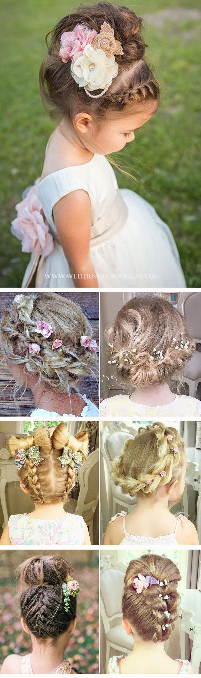30 Cute Flower Girl Hairstyles ❤ Here you find some simple flower girl hairsty...