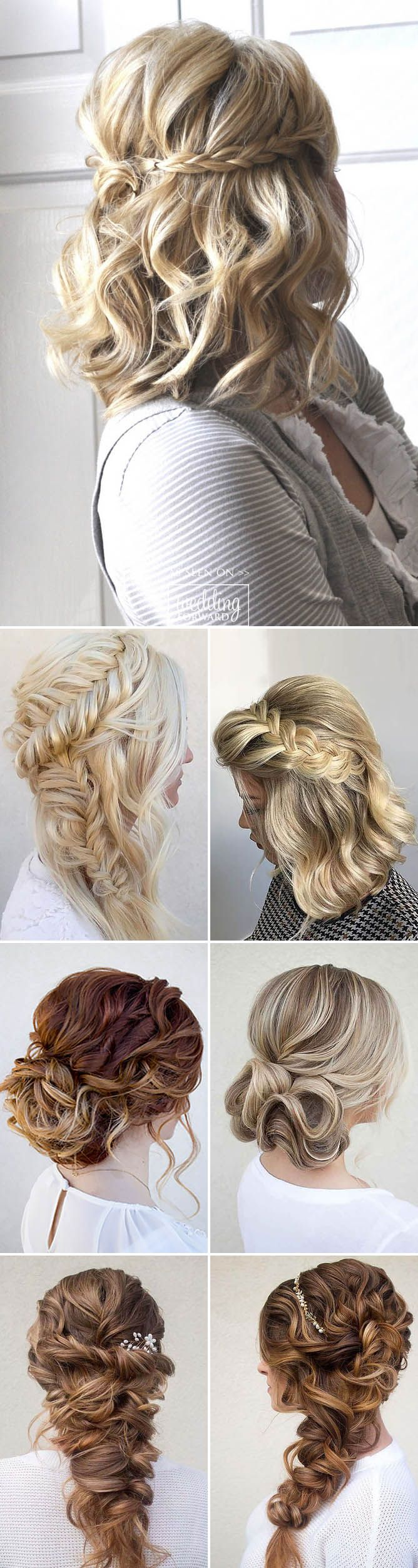 30 Hottest Bridesmaids Hairstyles For Short or Long Hair ❤ Thinking about brid...