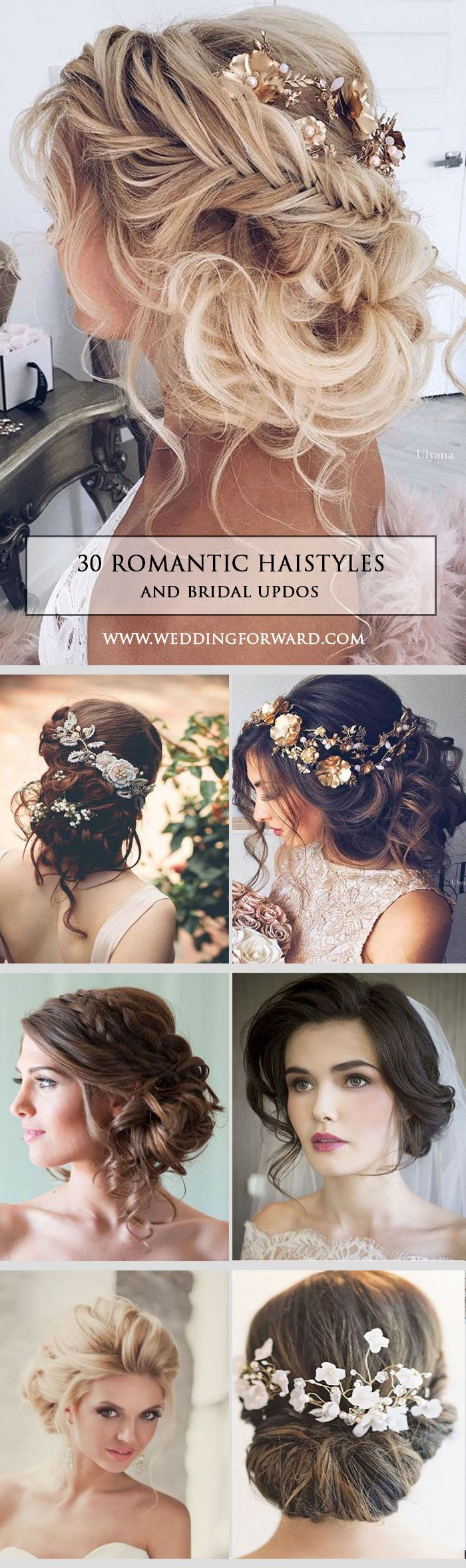 30 Most Romantic Bridal Updos ❤ Wedding Hairstyles ? Whether you are looking f...