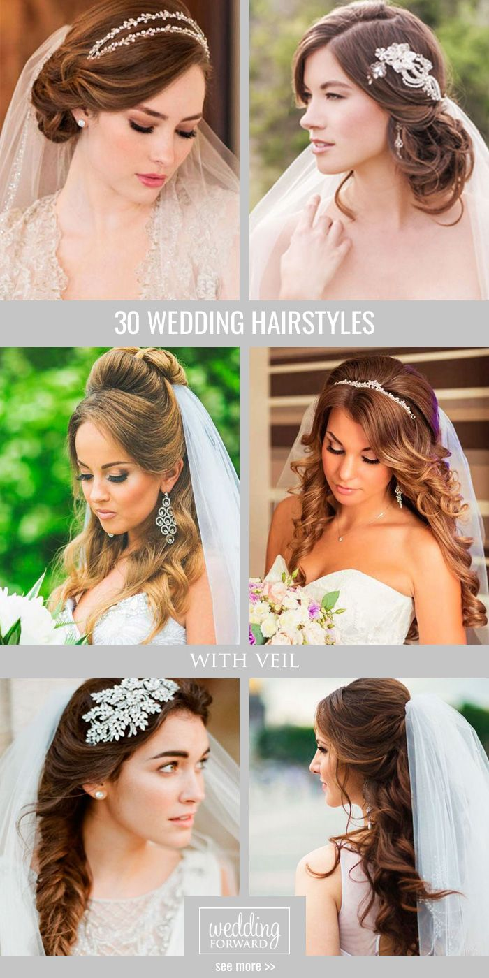 30 Wedding Hairstyles With Veil ❤ We picked up wedding hairstyles with veil fo...
