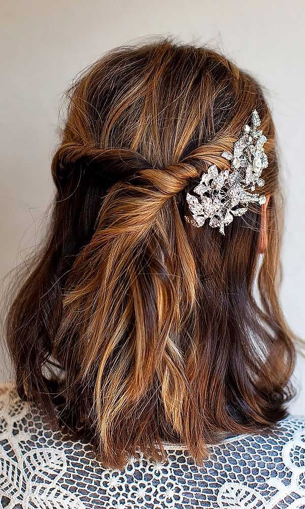 36 Short Wedding Hairstyle Ideas So Good You'd Want To Cut Your Hair ❤ If your...