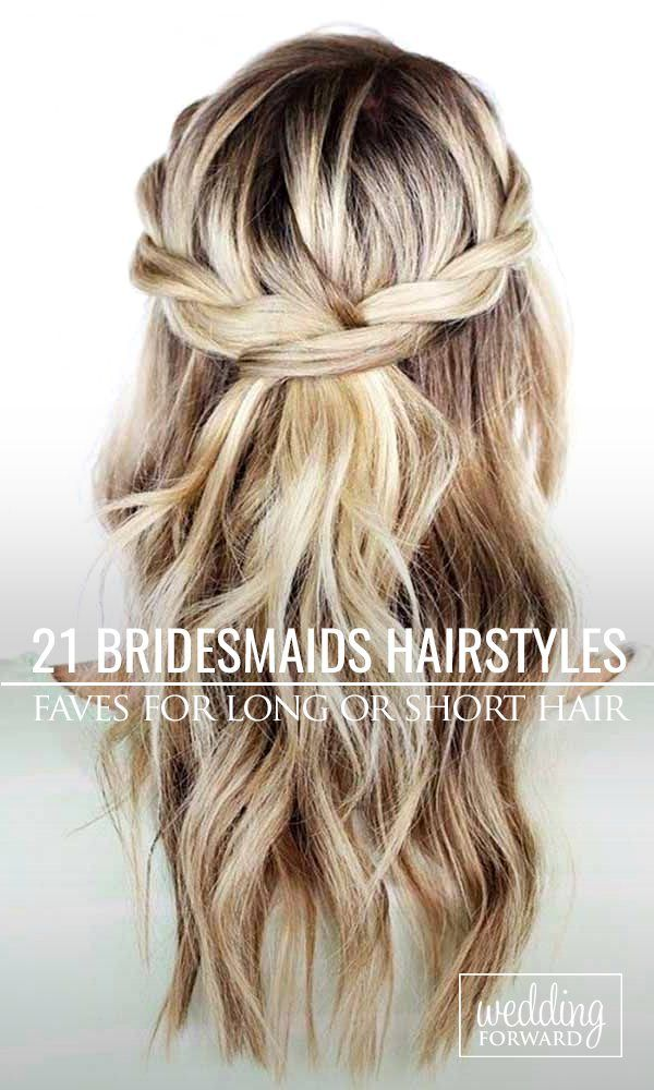 Bridesmaids Hairstyles For Short or Long Hair ❤ Looking for gorgeous hairstyle...