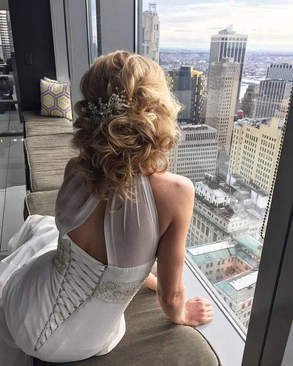 Elstie Long Wedding Hairstyles and Wedding Updos 21 | Deer Pearl Flowers