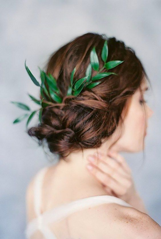 greenery wedding hair ideas laurenpeelephotography / www.deerpearlflow...