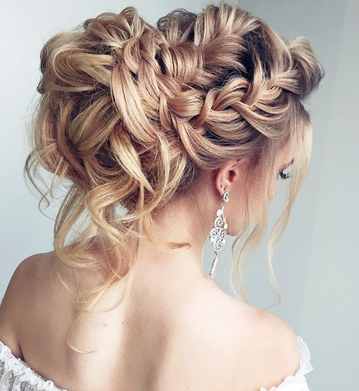 Beautiful Braided wedding hairstyle for long hair. Get inspired with this hand-p...