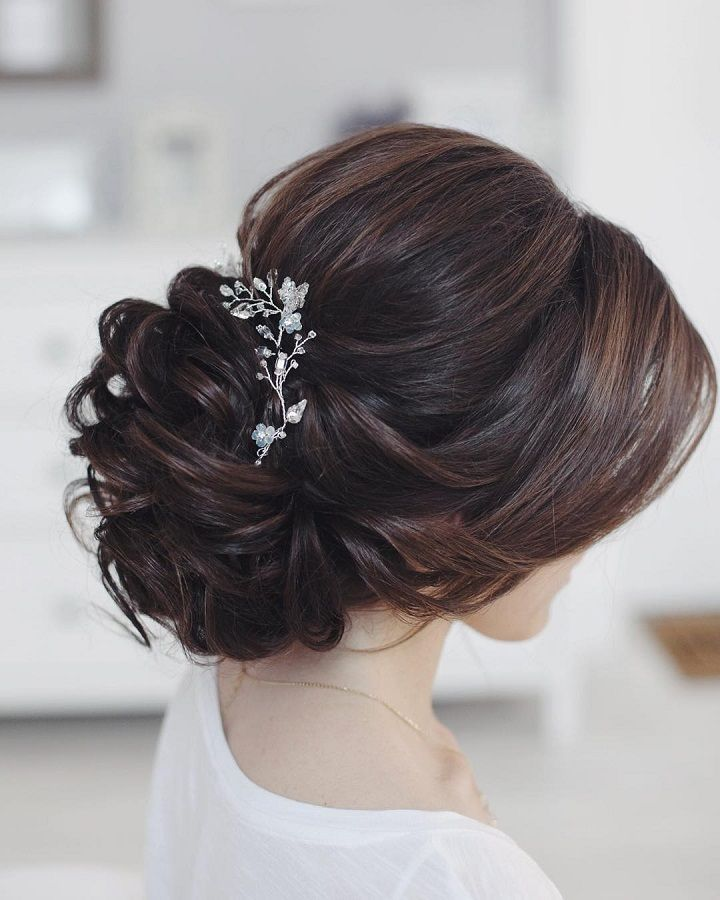 beautiful bridal updo hairstyle #wedding #updos #hairstyles #bridalhair #wedding...