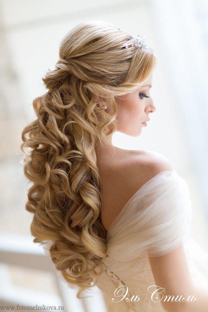 beautiful bridal wedding hair