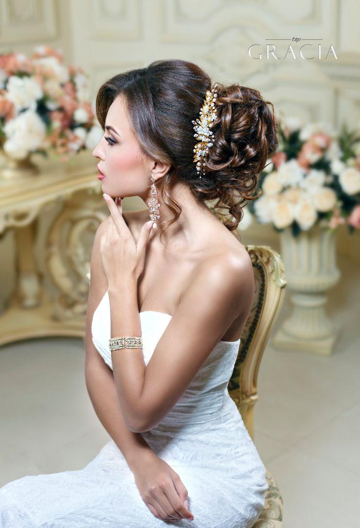 Bridal comb Wedding comb Leaf hair comb Leaf hair clip Flower hair comb Bridal h...