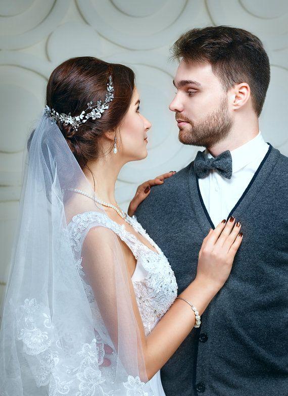 Bridal hair piece by TopGracia