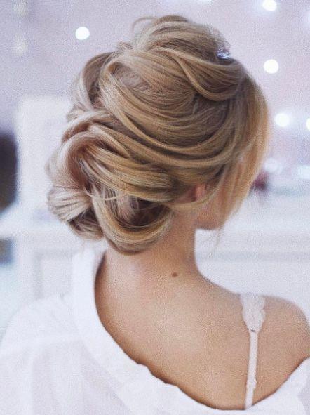 Featured Hairstyle: tonyastylist (Tonya Pushkareva); Wedding hairstyle idea.