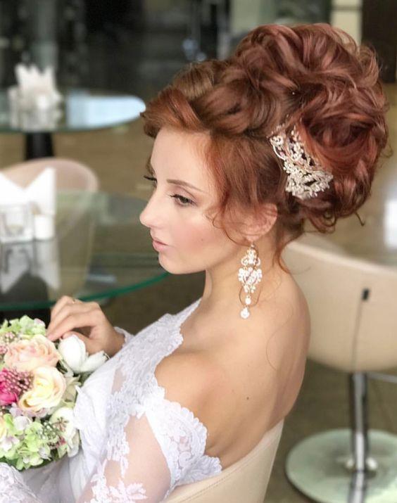 Featured Hairstyle: Websalon Wedding, Anna Komarova; www.websalon.su;  Wedding h...