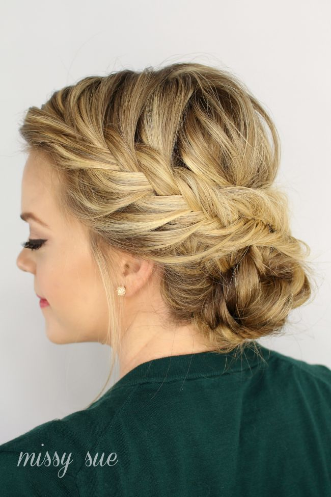 Fishtail Braided Updo is a perfect hairstyle for a night out. I love to wear my ...