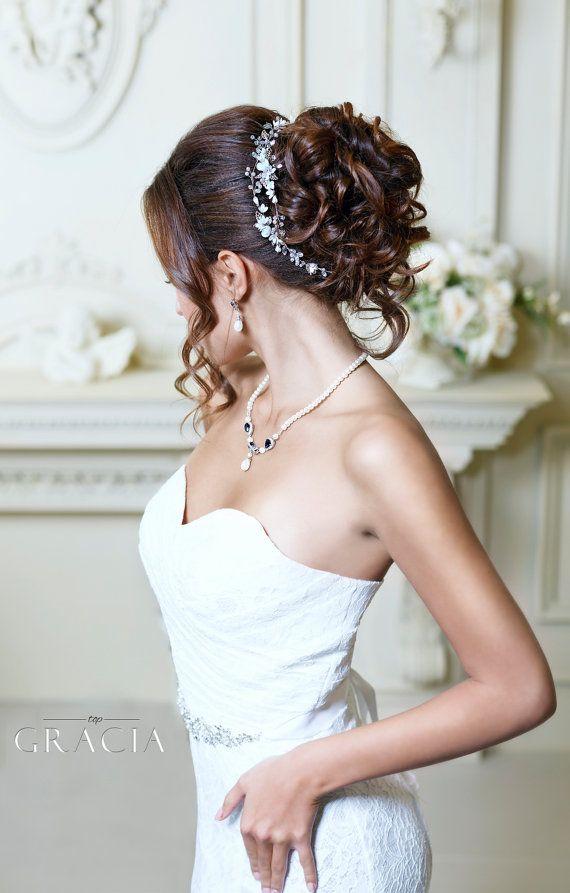Peluca de peluca novia boda tocado de novia boda por TopGracia