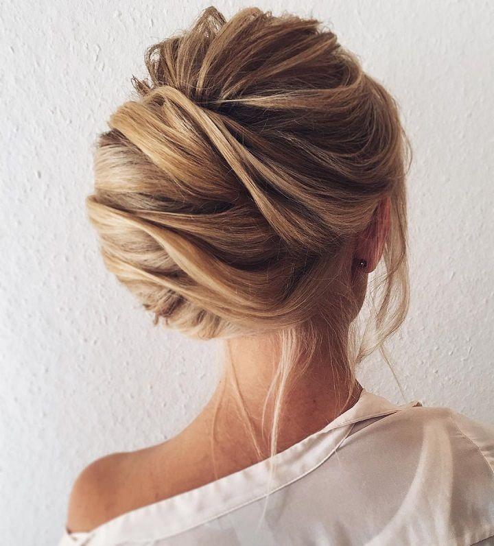 Pretty chignon hairstyle for long hair | fabmood.com #weddinghair #chignon #brid...