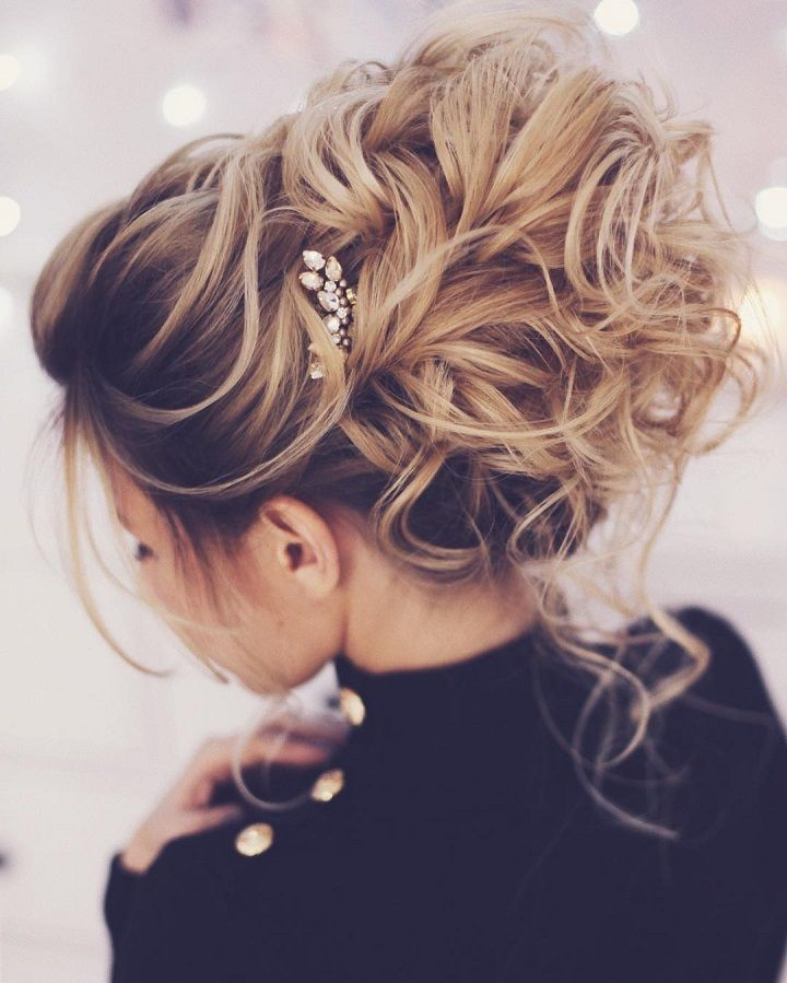 Pretty messy wedding updo hairstyle for Every Type of Bride - These stunning mes...