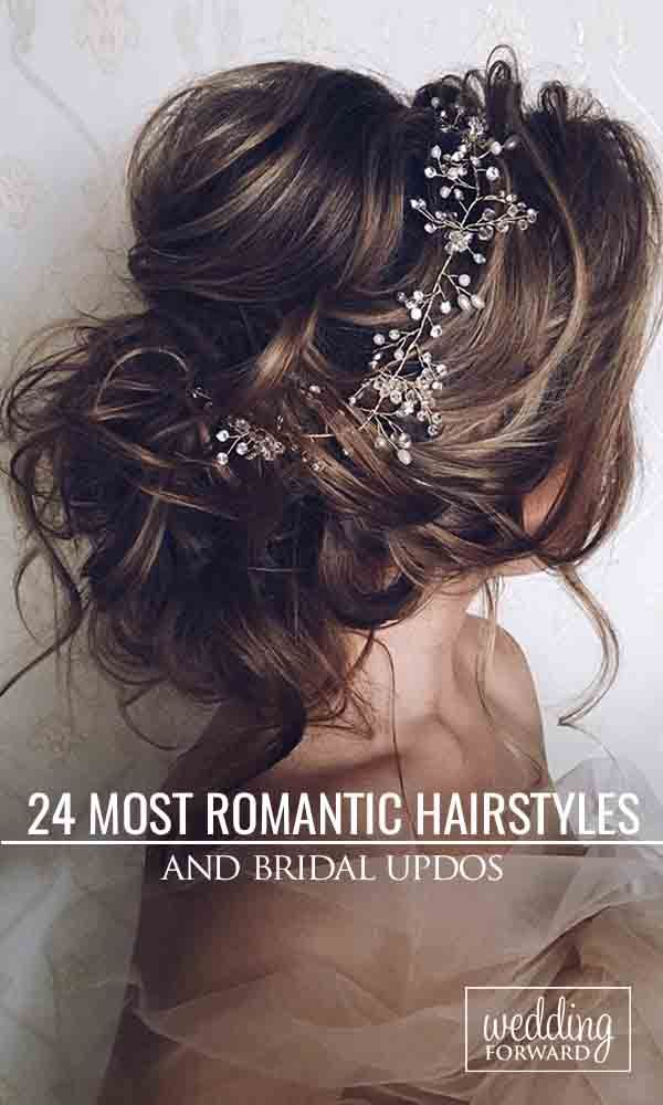 Most Romantic Bridal Updos & Wedding Hairstyles ❤ These romantic wedding hairs...