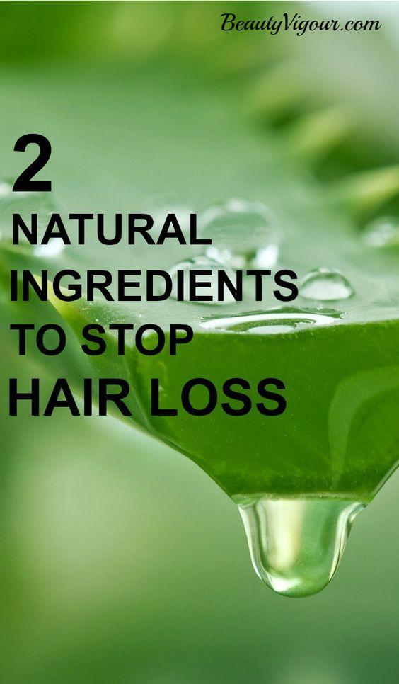 2 Natural Ingredients To Stop Hair Loss   #Haircare  | Hair Care | Hair Hacks | ...