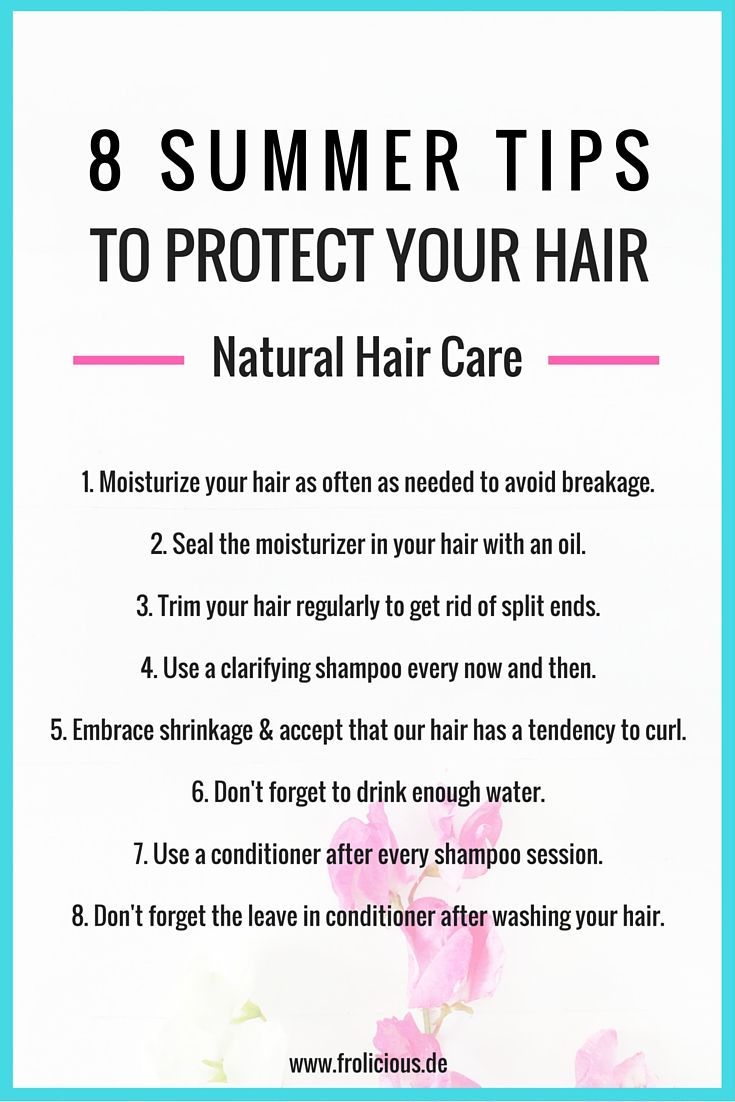 8 Summer Tips on How to Protect Your Natural Hair. Follow them and you will see ...