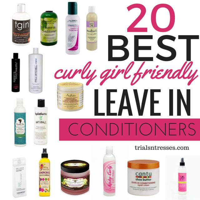 Curly Girl Method Friendly Leave-in Conditioners...I've tried 3 on this list...