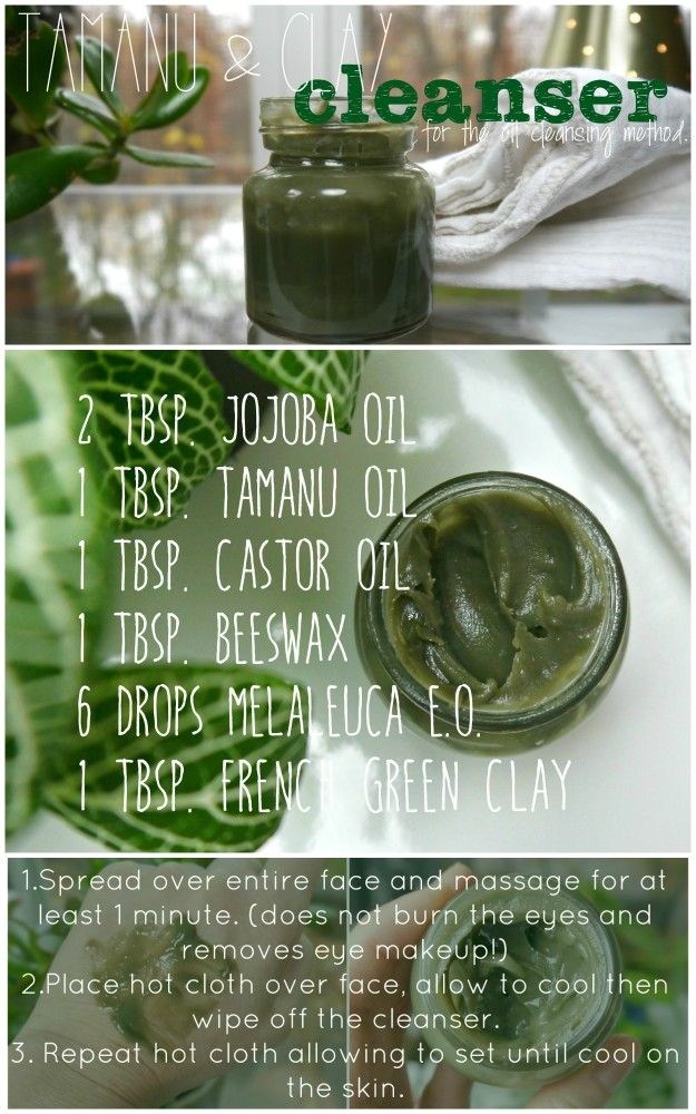 DIY Clay and Tamanu Oil Cleanser-All skin types can use but it's perfect for...