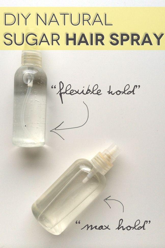 DIY Natural Sugar Hair Spray
