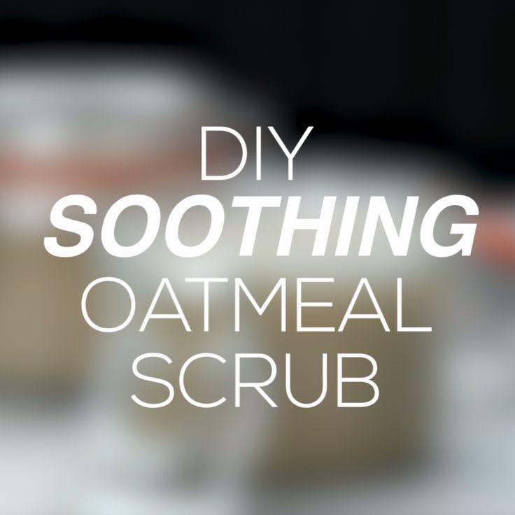 DIY Soothing Oatmeal Body Scrub