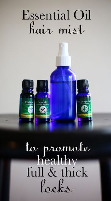 Essential Oil Hair Mist to promote thicker and fuller hair