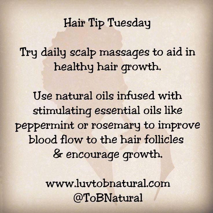 Hair Tip Tuesday: Try daily scalp massages to aid in healthy hair growth. Use na...