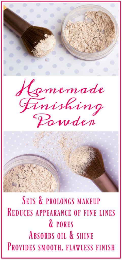 Homemade Finishing Powder Recipe for clear, healthy skin! This stuff works so we...
