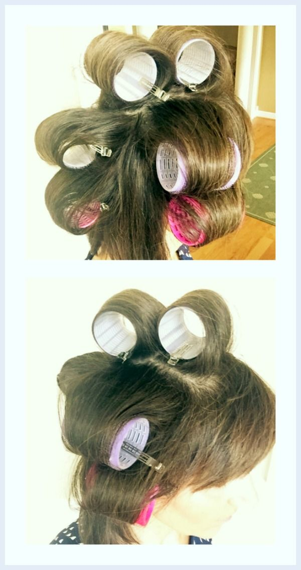 How I Style My Hair with velcro rollers.