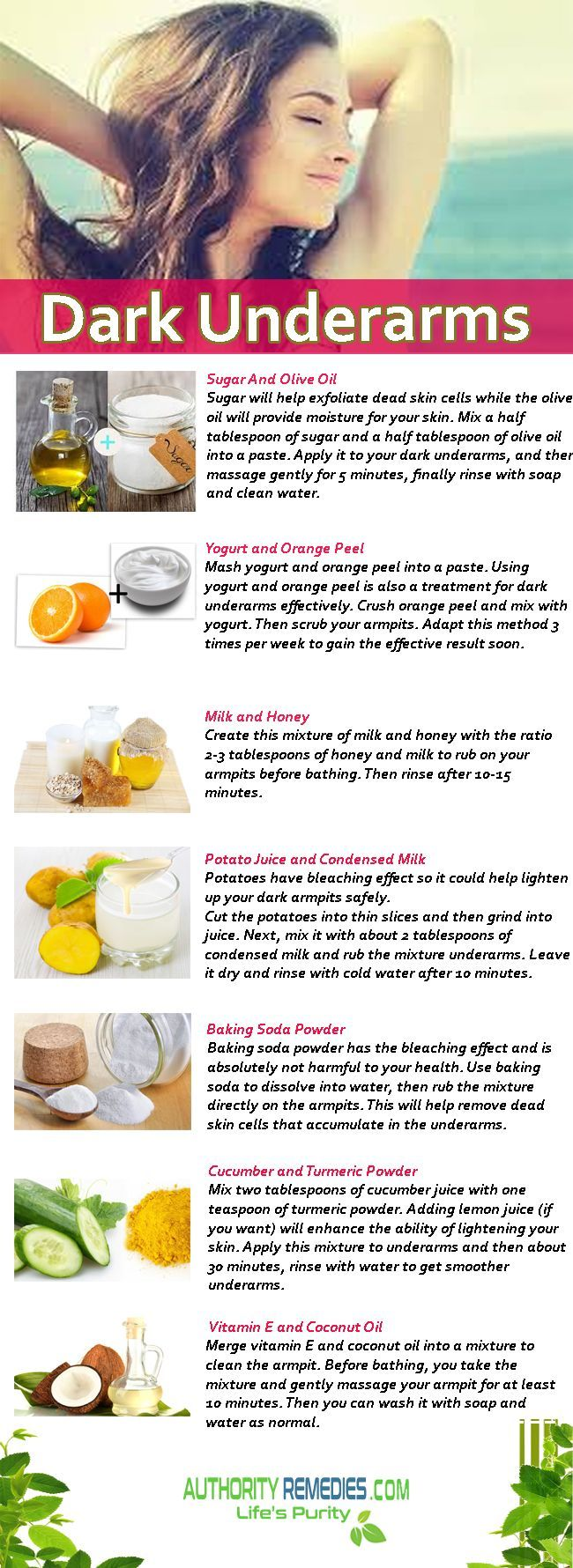 How to get rid of Dark Underarms which are simple and easy for you ladies to try...