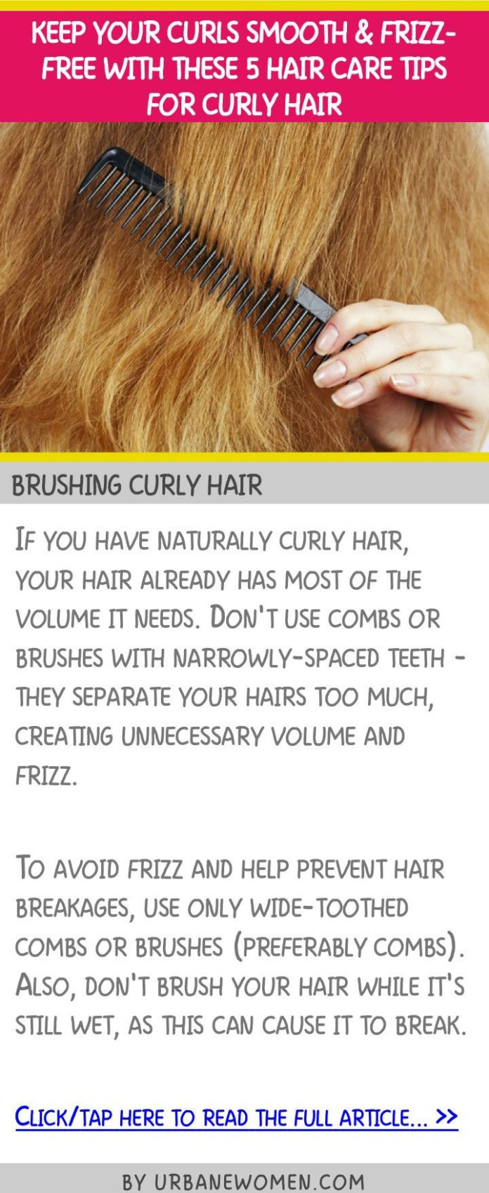 Hair care Ideas : Keep your curls smooth & frizz-free with ...