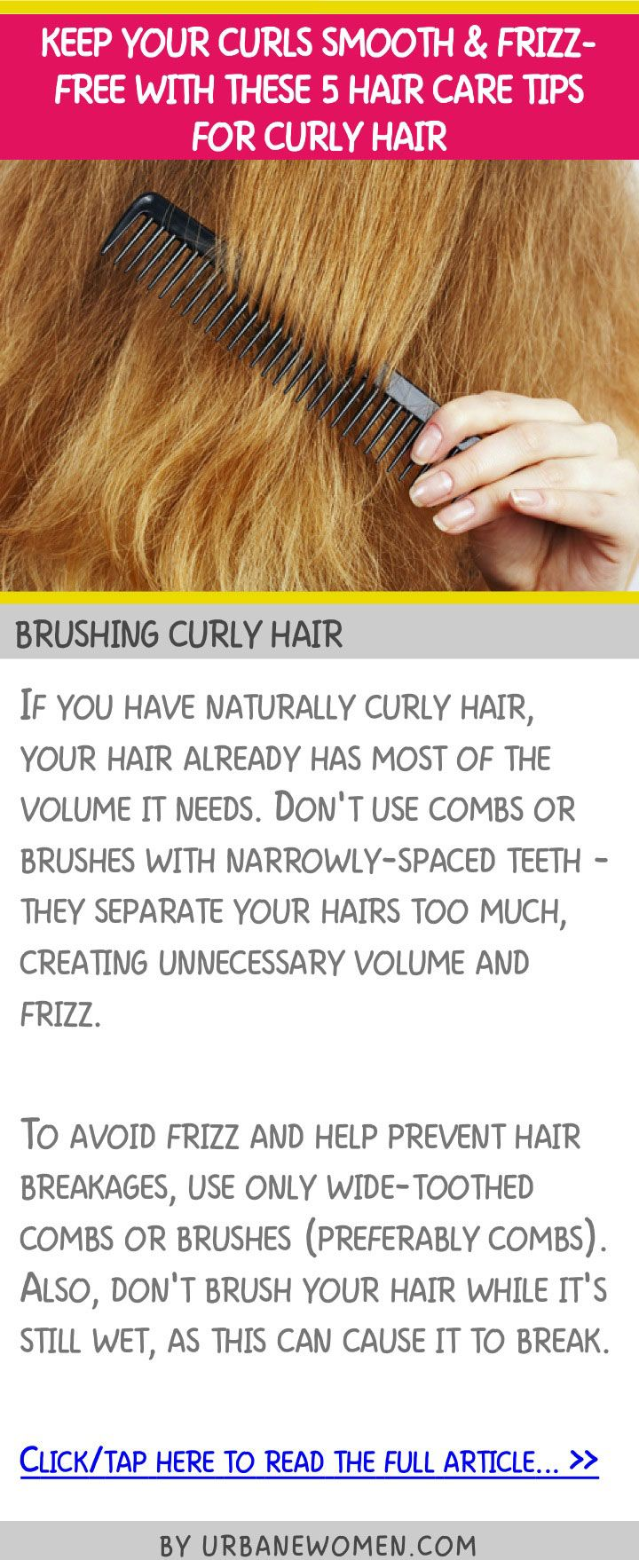 Keep your curls smooth & frizz-free with these 5 hair care tips for curly hair -...